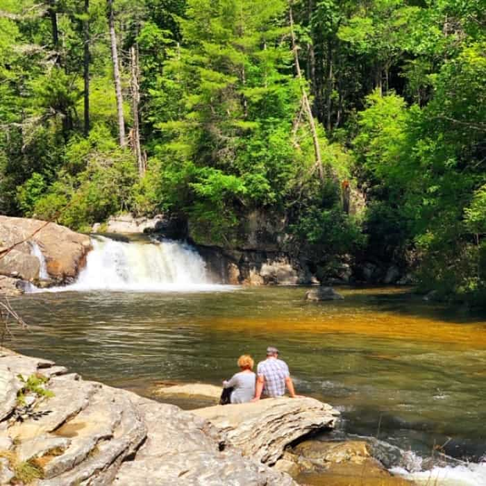 couple at Linville Falls