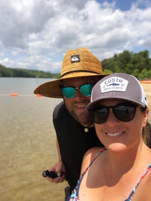 couple at Paddy's Creek Recreation Area at Lake James State Park