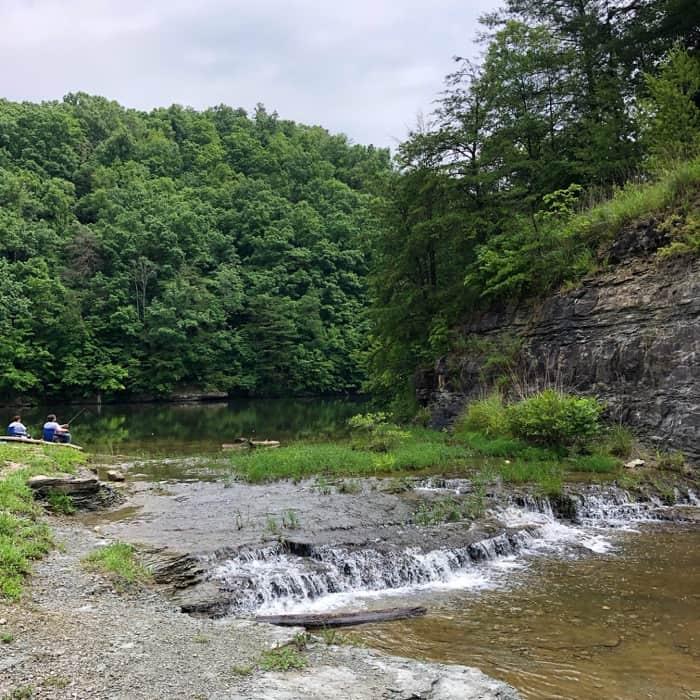 fishing at Mill Creek Lake