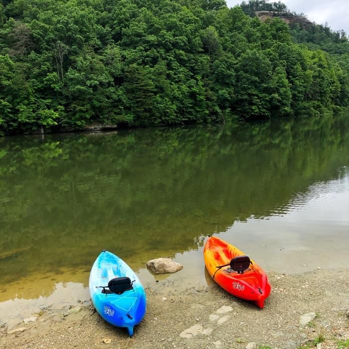 kayak rentals at Mill Creek Lake Red River Gorge