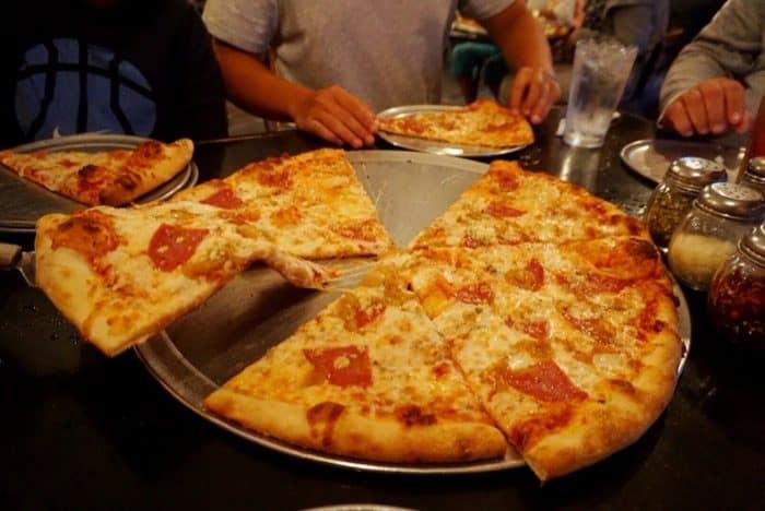 large pizza at Moondog pizza