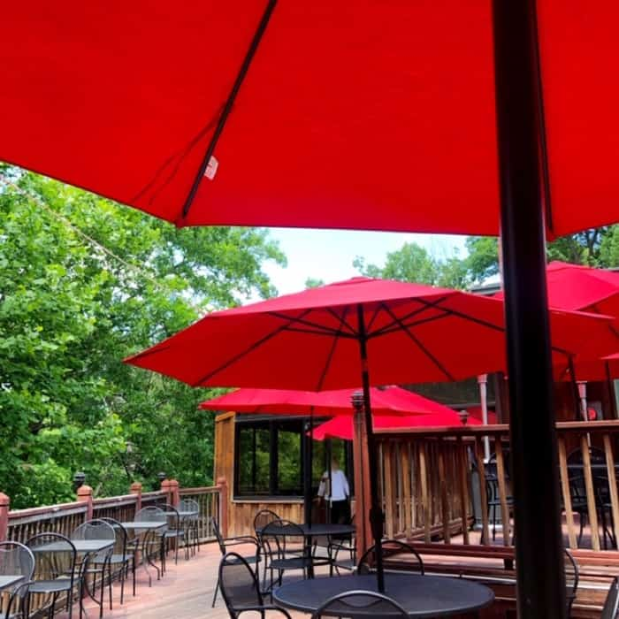 outdoor seating at Friday Friends