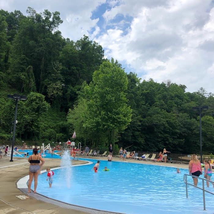 community pool at Natural Bridge State Park