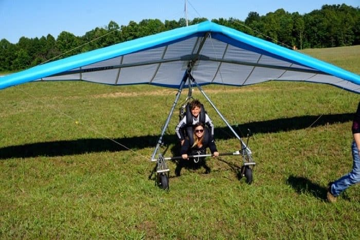 tandem with son Thermal Valley Hang Gliding