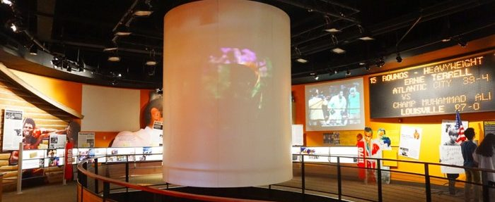 inside the Muhammed Ali Center in Louisville Kentucky
