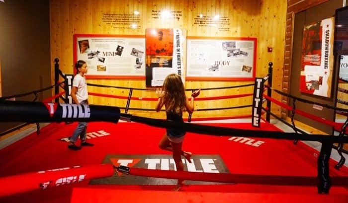 boxing ring exhibit Muhammad Ali Center