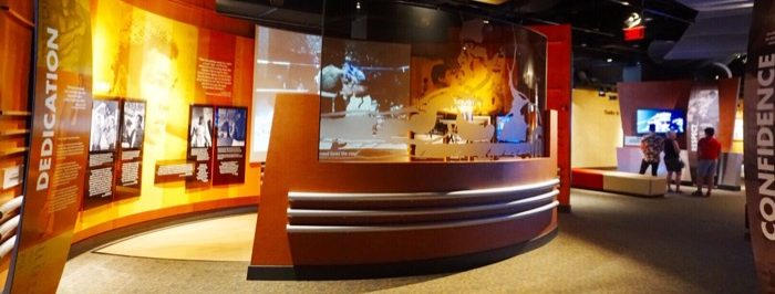 exhibit at the Muhammed Ali Center in Louisville Kentucky