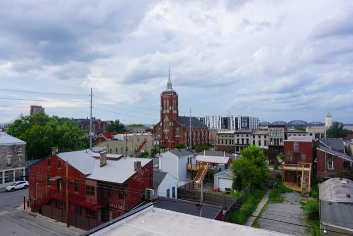 scenic view from Rabbit Hole Distillery in Downtown Louisville