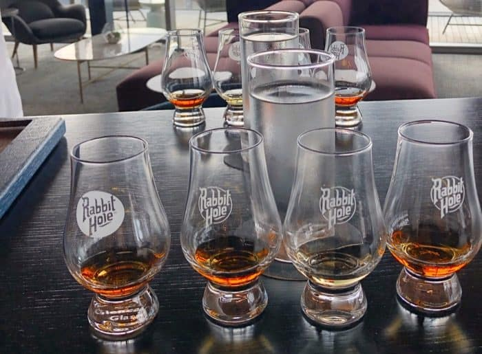 bourbon tasting on Rabbit Hole Distillery Tour in Downtown Louisville