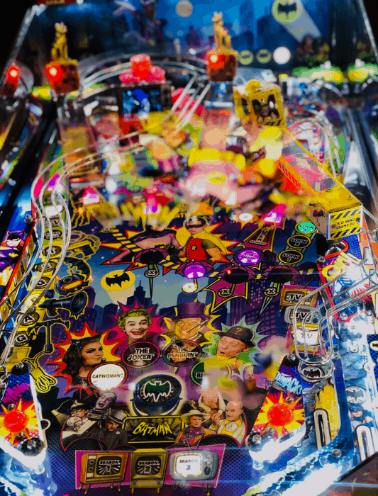 batman pinball machine at 403 Club in Kansas City Kansas