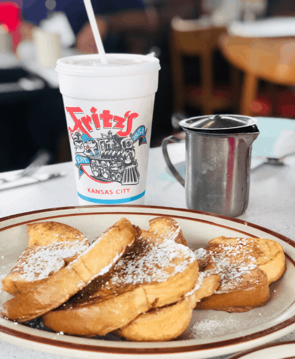 breakfast at Fritz's in Kansas City Kansas