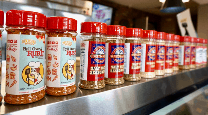 spices at Krizman's House of Sausage in Kansas City Kansas