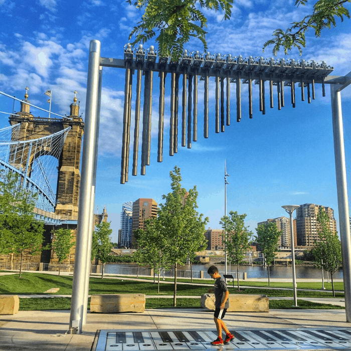 Giant Foot Piano at Smale Riverfront Park