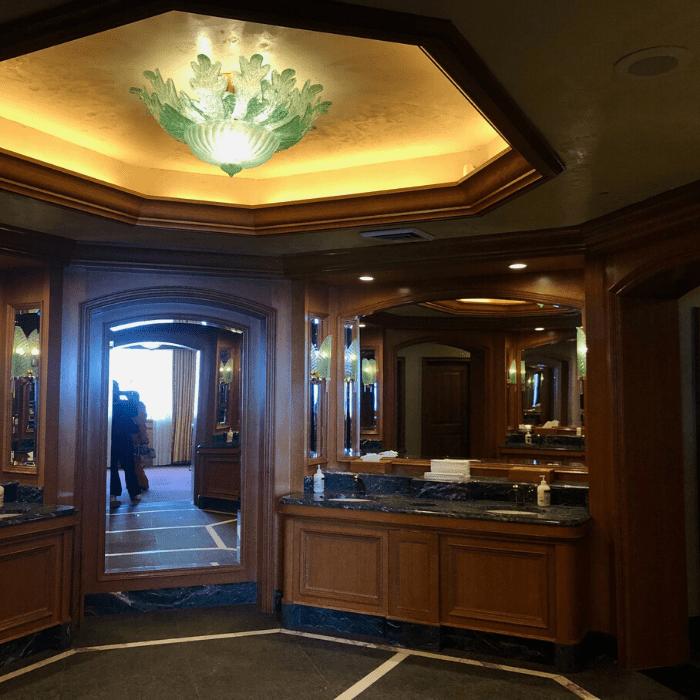 fancy bathroom at  Snowbasin Resort in Utah