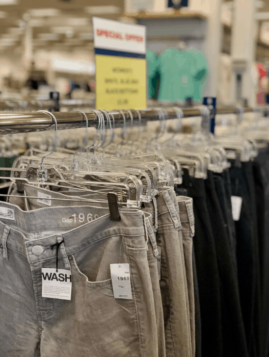 jeans at the Gap Clearance Center in Hebron Kentucky