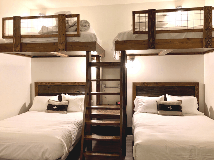 room with bunk beds at Compass Rose Lodge
