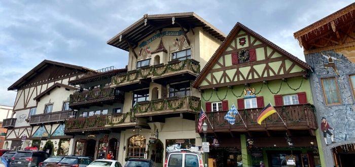 Bavarian themed village Leavenworth WA