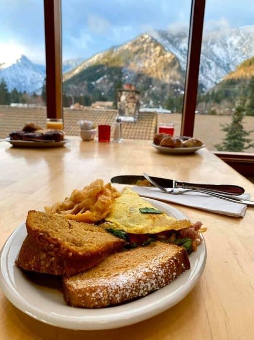 breakfast at the Enzian Inn in Leavenworth WA
