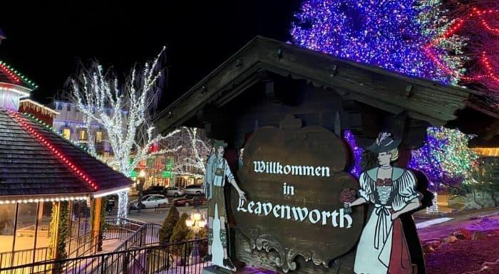Christmas Lights  in Leavenworth WA