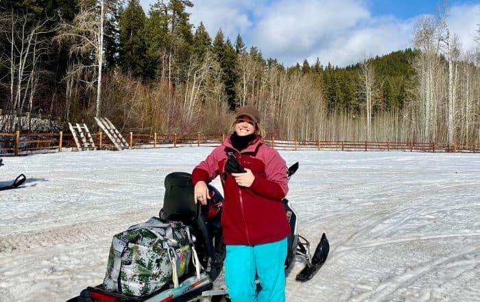 Erin our Leavenworth snowmobile guide