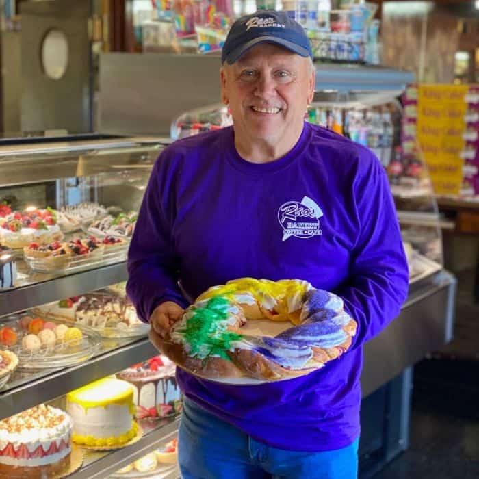 King Cake from Rao's Bakery