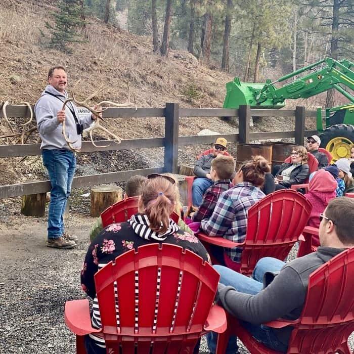 reindeer education at Leavenworth Reindeer Farm