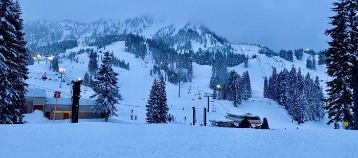 Ski at Night at Stevens Pass