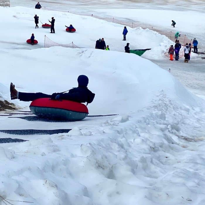 Snow Tubing at the Leavenworth Ski Hill
