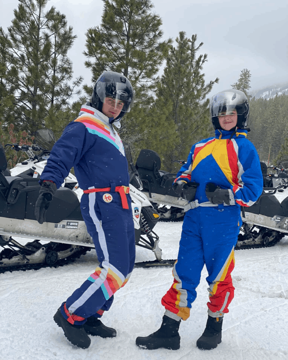teenagers on Guided Tour with Leavenworth Snowmobile Tours