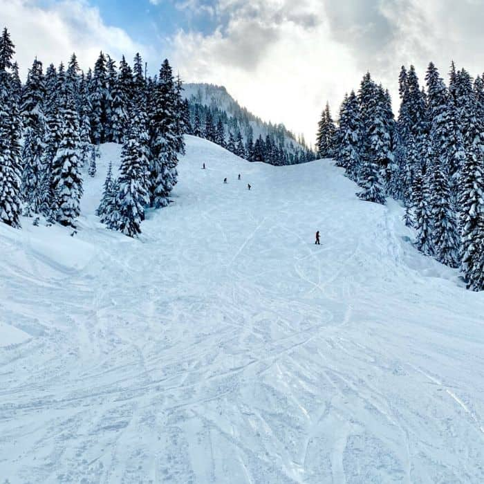 skiing at Stevens Pass in Washington State