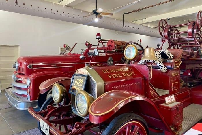 fire engines at Fire Museum of Texas