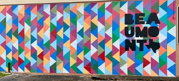 colorful mural Beaumont Texas