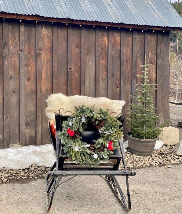 sleigh photo area