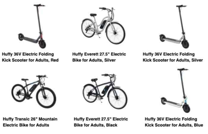 Huffy E-bikes and Scooters