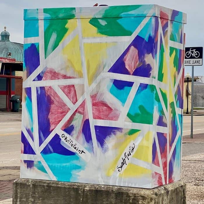 colorful electric boxes in Beaumont Texas
