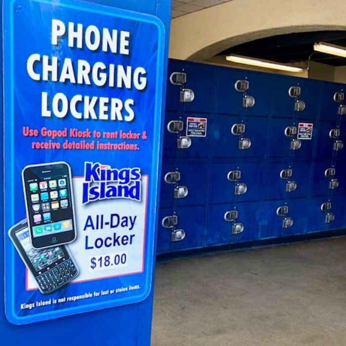 locker rentals at Kings Island Amusement Park
