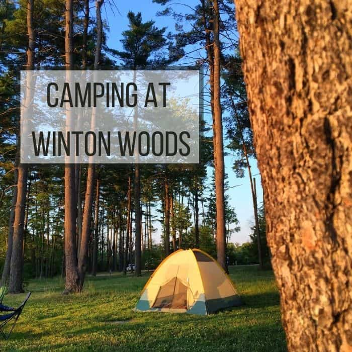 Camping at Winton Woods