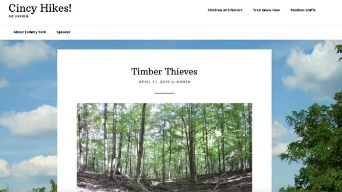 Cincy hikes website