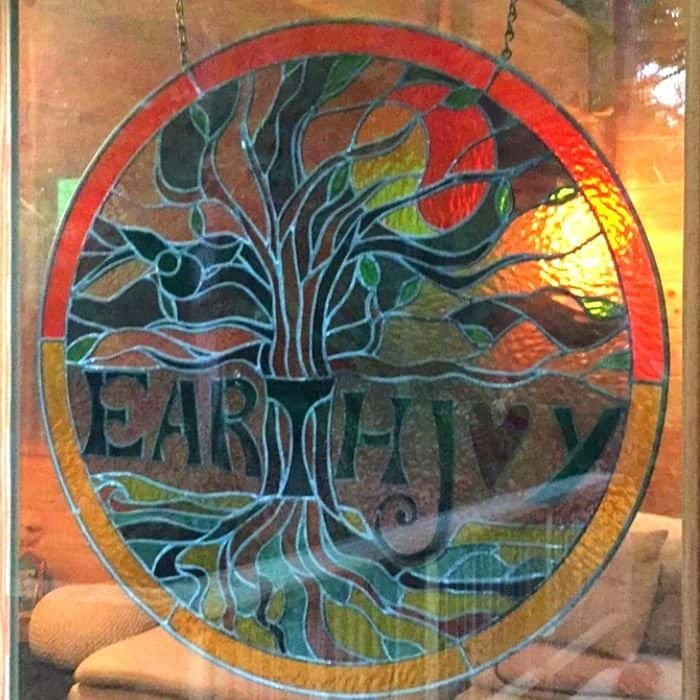 EarthJoy Tree Adventures stain glass sign