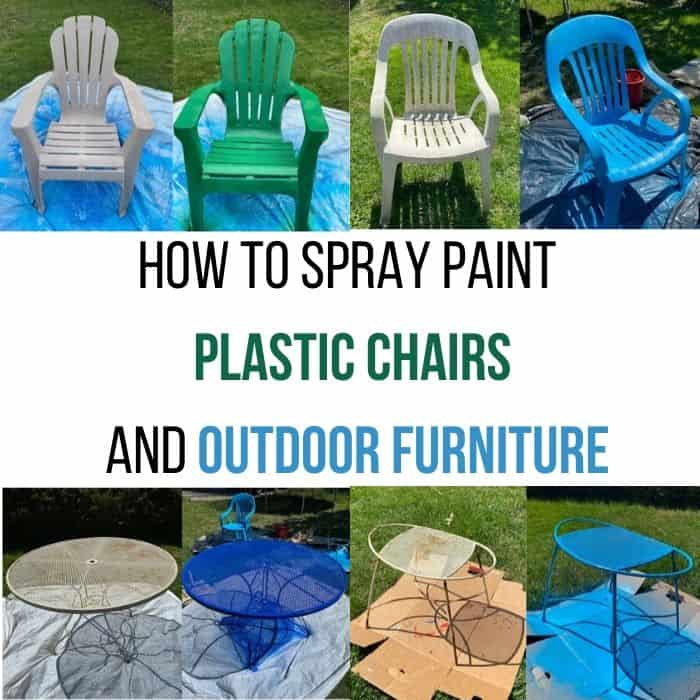 How to Spray Paint Plastic Chairs and Outdoor Furniture