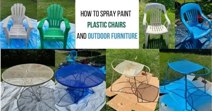 How To Spray Paint Plastic Chairs And, Best Spray Paint For Outdoor Metal Furniture