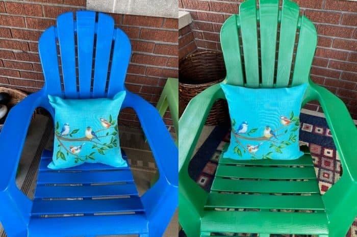 spray painted Adirondack chairs