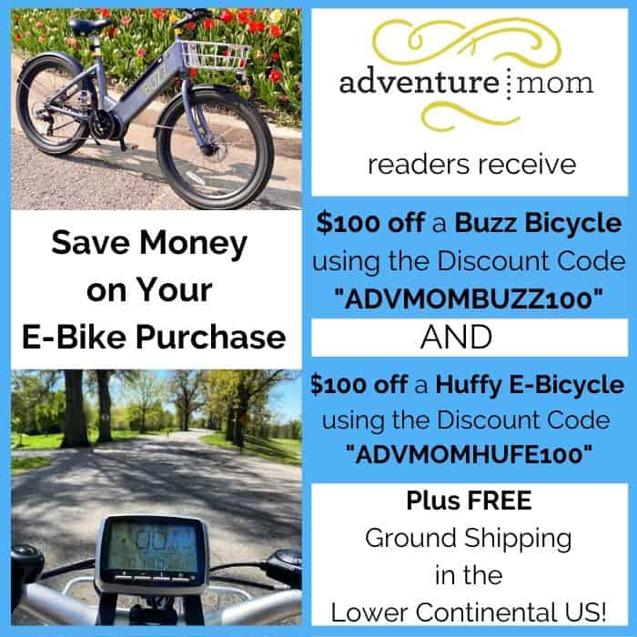 Adventure Mom Reader Discount for E-bikes