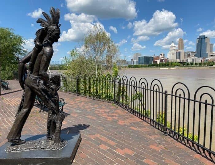 Chief Little Turtle Statue on Riverwalk Statue Tour