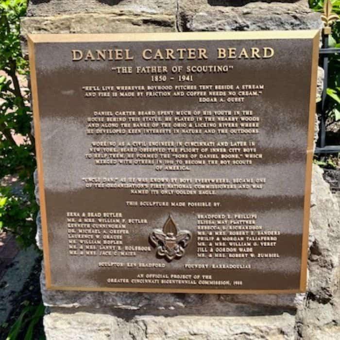 Daniel Carter Beard Statue on the Riverwalk Statue Tour