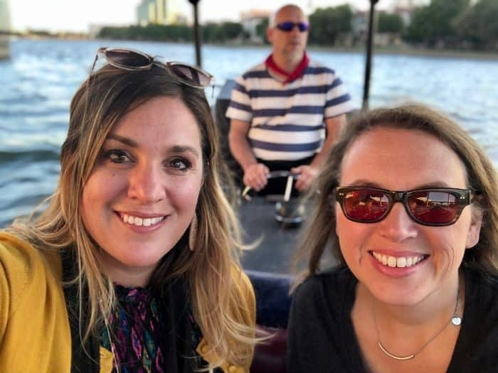 friends on a Gondola ride in Las Colinas Texas