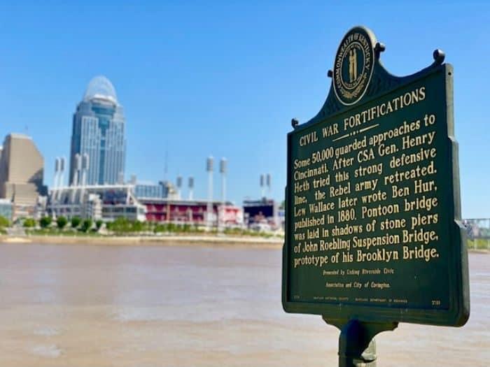 Historical Marker in Covington Kentucky