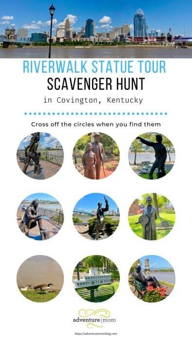 Interactive Riverwalk Statue Tour Scavenger Hunt for Kids