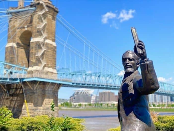 J.A. Roebling Statue in Covington Kentucky