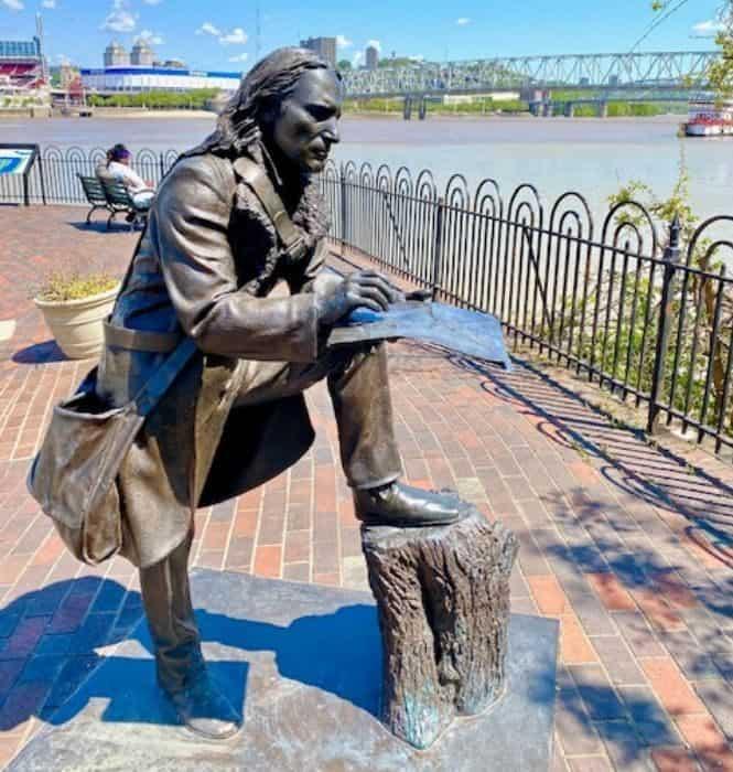 John James Audubon Statue on the Riverwalk Statue Tour